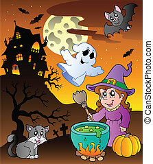 Scene with Halloween theme 1