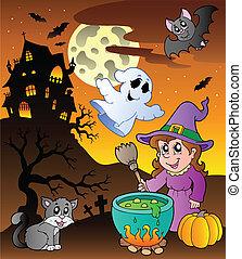 Scene with Halloween theme 1