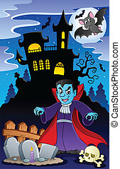 Scene with Halloween theme 6