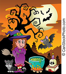 Scene with Halloween theme 8