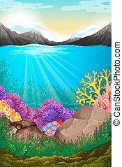 Scene with under the ocean