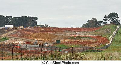 Scenery earthworks for freeway in Australia