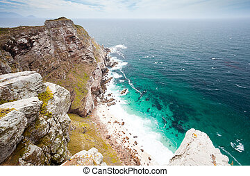 scenery of cape point, south africa