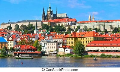 Scenery of Prague, Czech Republic - Scenic summer panorama...