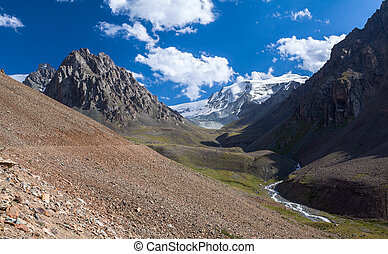 Scenery of ravine in Tien Shan mountains
