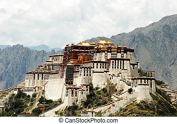 Potala Palace in Lhasa Tibet - Scenery of the famous Potala ...