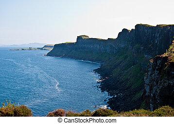 scenery on the Isle of Skye in Scotland