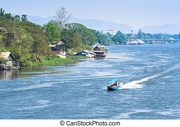 Scenery on the River Kwai.