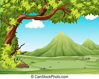 Scenery - Poster of a scenery view illustration