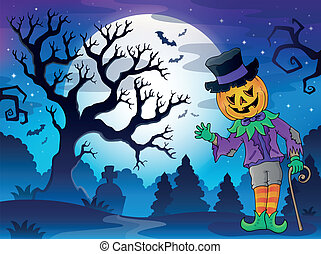 Scenery with Halloween character 2