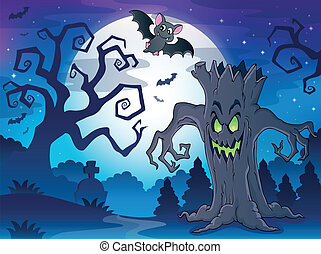 Scenery with Halloween thematics 1 - eps10 vector...