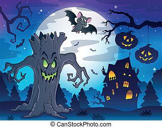 Scenery with Halloween thematics 2