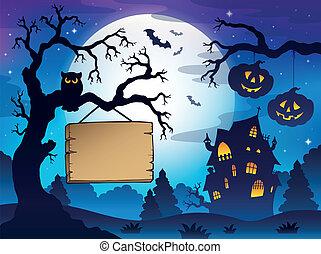 Scenery with Halloween thematics 3
