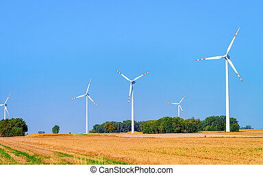 Wind mills in South Moravia