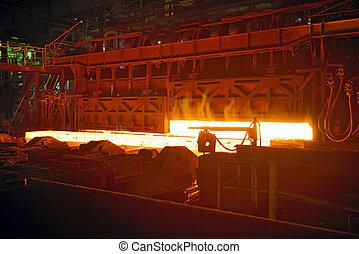 Scenes in steel mill