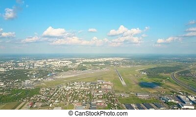 Scenic aerial shot of an airport