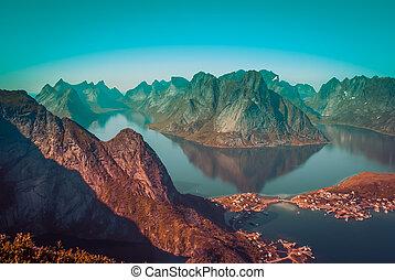 Lofoten islands in Norway