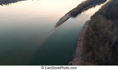 Scenic aerial volga river shot - A beautiful aerial shot...