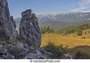 Romanian travel destinations - Scenic alpine view with...