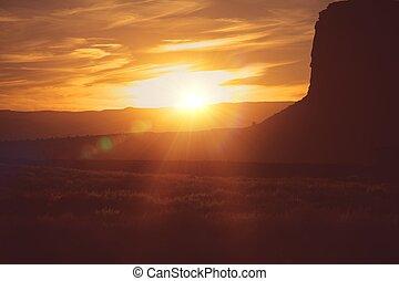 Scenic Arizona Desert Sunset