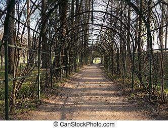 scenic artificial arcs in park
