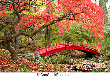 Japanese Garden - Scenic autumn picture of Japanese Garden ...