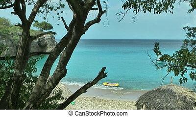 Scenic beach in curacao