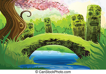 Scenic Beauty - easy to edit vector illustration of scenic...