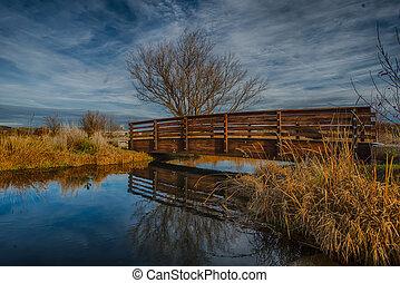Scenic bridge in McNary dam reserve