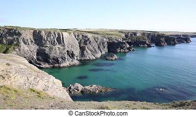 Scenic British coast Cornwall PAN - Scenic British coast of...