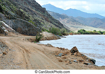 Scenic C13 route in Namibia along the Orange River