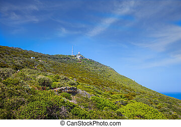 Scenic Cape of Good Hope in the Atlantic. Travel to South...
