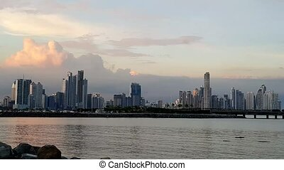 Scenic City skyline in Panama City, Panama, Central America...
