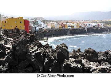 Scenic coast of Puerto de la Cruz, Tenerife island