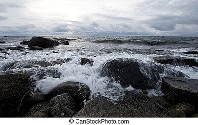 Scenic coastal landscape - Scenic Nordic coastal landscape...