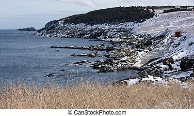 Scenic coastline in Pouch Cove, Newfoundland and Labrador