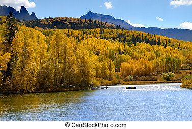 Scenic Colorado - Beautiful Colorado landscape with aspens...