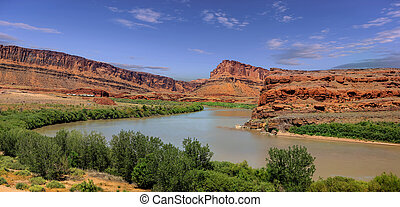 Scenic Colorado river landscape in Utah