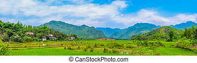 Scenic Countryside, Rural Landscape, Village, Panorama