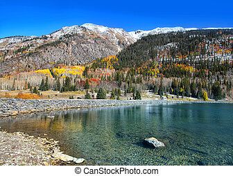 Scenic Crystal lake in Colorado