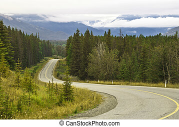 Scenic drive in Banff National Park