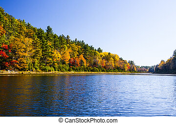 Scenic Fall Colors on the Water