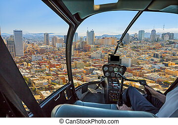 Scenic flight in San Francisco