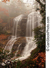 Glenn Falls - Scenic Glenn Falls in the Nantahala National...