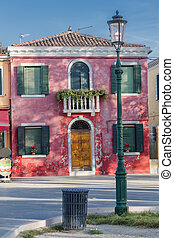 Scenic house on the island of Burano