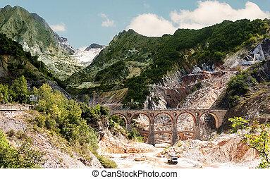 Scenic Italy - Ponti di Vara - Famous and beautiful view of...