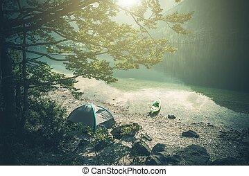 Scenic Lake Camping