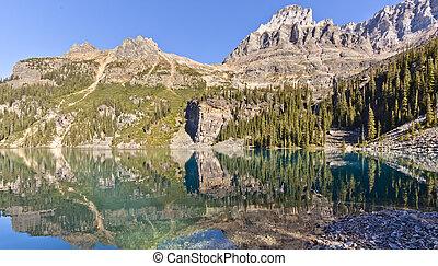 Scenic Lake O'hara of BC Canada
