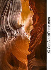 scenic landscape around the famous Antelope Canyon at Page, Arizona