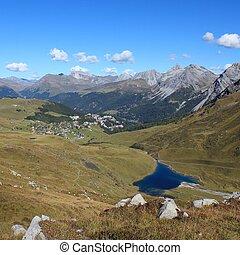 Scenic landscape in Arosa